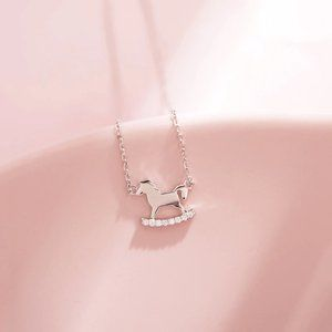 NEW 925 Sterling Silver Horse Charm Necklace